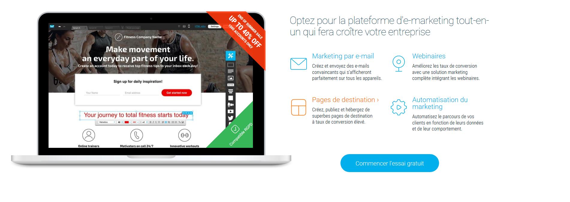 Opening du nouveau site No Limits_GetResponse