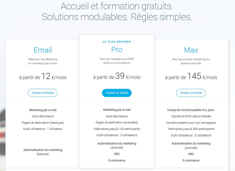 Opening du nouveau site No Limits_GetResponse_Prix
