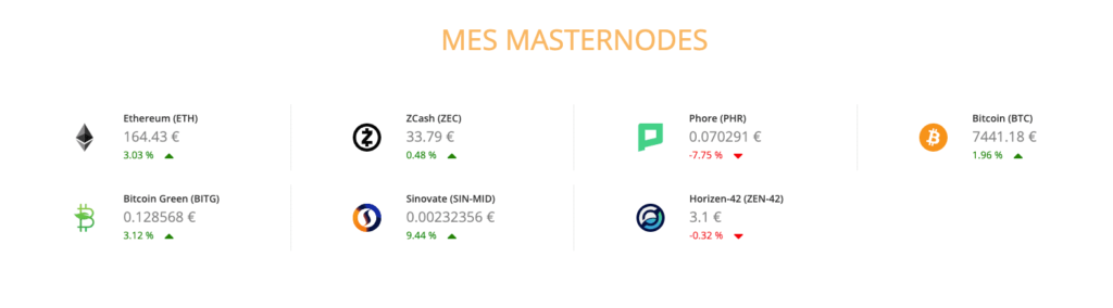 Masternodes Gains